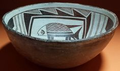 """Mimbres fishes 9.5"""" x 4.5"""" -4"""