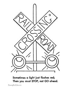 Railroad Safety Coloring pages -Train Signal Light Safety Coloring sheets : BlueBonkers Train Coloring Pages, Horse Coloring Pages, Bible Coloring Pages, Free Printable Coloring Pages, Thomas Birthday Parties, Trains Birthday Party, Train Party, 3rd Birthday, Birthday Ideas