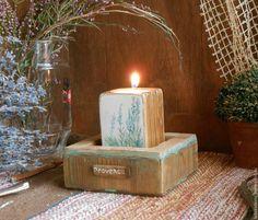 """Купить Подсвечник для интерьера """"Лето в Провансе"""" - комбинированный, подсвечник ручной работы, подсвечник из дерева"""