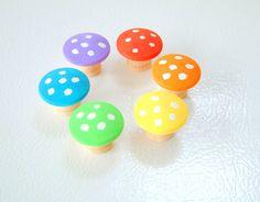 One Mushroom of Your Choice  Rainbow Mushrooms by Zooble on Etsy, $2.00