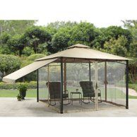 Outdoor Gazebo Patio Backyard Furniture Canopy Top Tent Steel Frame for sale online Outdoor Gazebos, Patio Gazebo, Patio Roof, Diy Pergola, Pergola Kits, Backyard Patio, Gazebo Ideas, Patio Ideas, Screened Gazebo