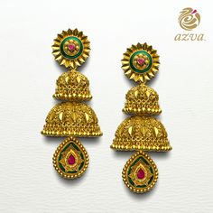 These masterfully crafted #Azva earrings are the perfect accessories for the #BeautifulBride.