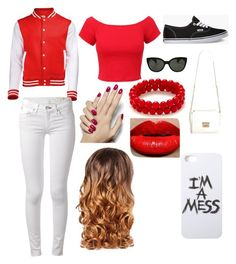 going to a game by ryleesand on Polyvore featuring polyvore, fashion, style, rag & bone, Vans, LAUREN MOSHI, Oliver Peoples and Lipsy
