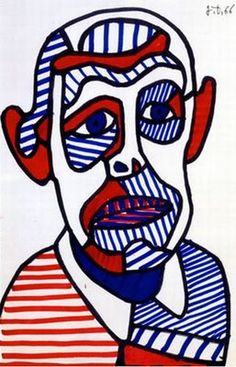 Jean Dubuffet, auto-portrait, 1966.