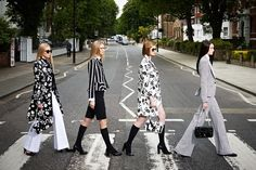 Ralph Lauren models' on the Abbey Road crossing. [Courtesy Photo]