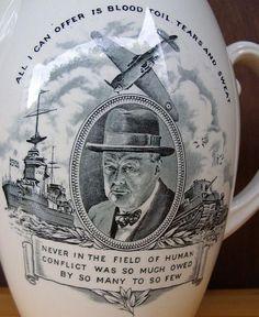 A rare Copeland Spode Winston Churchill pitcher. http://www.rosettabooks.com/author/winston-churchill/