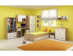 Dětský pokoj Kitty 2 Designový nábytek do studentského pokoje Kitty 2 je vyroben z lamina s ABS hranou 0,6 mm. Korpus je z 25 mm silných LTD desek, barevné části mají sílu 16 mm. Úchytky … Italian Bedroom Sets, Black Bedroom Sets, Kids Bedroom Sets, Cheap Bedroom Furniture Sets, Childrens Bedroom Furniture, Pillow Storage, Wall Mounted Shelves, Modern Bedroom, Kitty