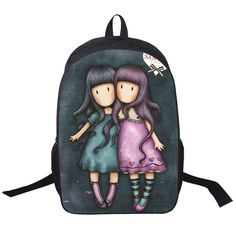 2016 New Cute Beautiful Girls Backpack 16 Inch Printing Characters Backpack  For Kids School Bags For Children Boys and Girls f60821664e5b6