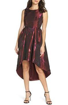 Reduce Vince Camuto Metallic Jacquard Fit Amp Flare Dress Regular