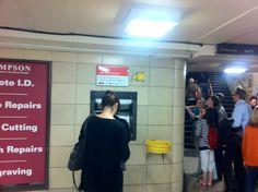 Secret cash machine: Leicester Square station