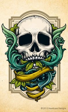 Skulls & Scrolls by Bernard Salunga, via Behance