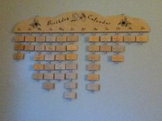 Wooden birthday calender, as your family grows, you can add their names!
