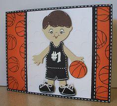 Cricut basketball.  Scrappin' Navy Wife