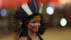 More than 60 women and girls are taking part in the parade of indigenous beauty at the World Indigenous Games in Brazil.