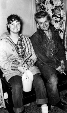 On (January 28, 1958) Charles Starkweather, a 19-year-old high-school dropout from Lincoln, Nebraska, and his 14-year-old girlfriend, Caril Ann Fugate, murdered a Lincoln businessman, his wife and their maid, as part of a murderous crime spree that began a week earlier and would ultimately leave 10 people dead.   He was executed and Caril  spent 17 years in prison. One of the dark sides of the 1950s, they were the original Natural Born Killers.