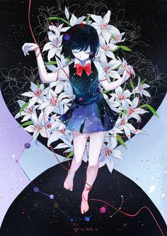 Kuzu no Honkai by futarinokizuna on DeviantArt Anime Art Girl, Manga Art, Anime Manga, Anime Girls, Another Misaki, Another Anime, Anime Cosplay, Kuzu No Honkai Hanabi, Scums Wish
