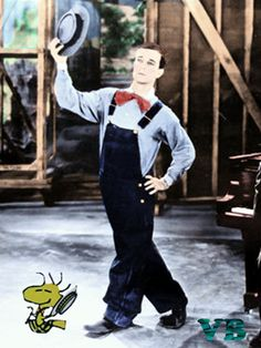 Buster Keaton and Woodstock doing a little soft shoe