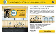 Porto Alegre conta com uma plataforma em que as pessoas ou estabelecimentos solicitam um bicicletário na frente de seus estabelecimentos para que possa expandir as alternativas pela cidade. Tudo isso com um formulário simples e um valor baixo, permitindo multiplicar bicicletários por toda a cidade! Confira: http://poabikes.com.br/