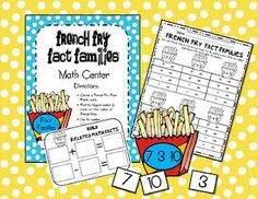 First Grade Fever!: Fact Family Math Center FREEBIE!