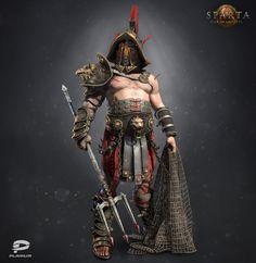 Gladiator. Unit for *Sparta: war of empires* from Plarium games.