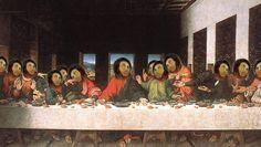 La Última Cena de Leonardo Da Vinci estilo Ecce Homo.