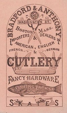 Cutlery and Hardware Store Sign Lettering