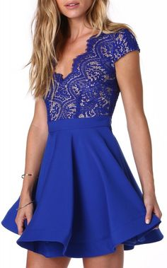 Happily Ever After Cocktail Dress in Blue