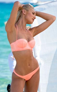 Candice Swanepoel models Victoria's Secret in St. Tropez.