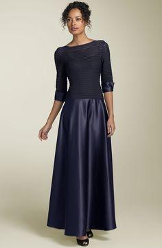 Fabulous+Tea-Length+Half-Sleeves+Bateau+Mother+Of+The+Bride+Dress