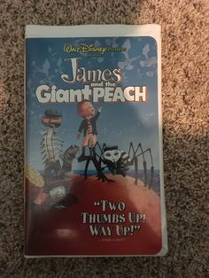 Walt Disney James and The Giant Peach VHS for sale online Pooh's Grand Adventure, The Giant Peach, Walt Disney Pictures, Disney Movies, Ebay, Collection, Disney Films