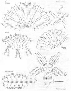 Crochet lace motif diagrams