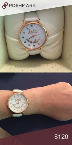 Kate Spade Hello Sunshine leather band watch New with tags! Never worn! kate spade Accessories Watches