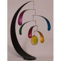 Calder hanging art, hanging mobile, hanging mobiles, art mobiles, mobile art, kinetic art Jim A Stand Mobile