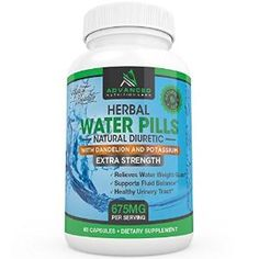 Herbal Diuretic Water Pills with Dandelion and Potassium for Natural Relief from Swelling, Bloating and Water Weight Gain by sofywall
