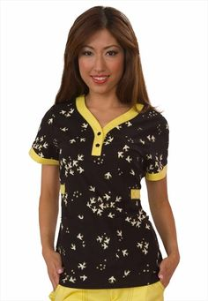 Such a cute scrub top!!!  Koi Kourtney Love Bird print scrub top.