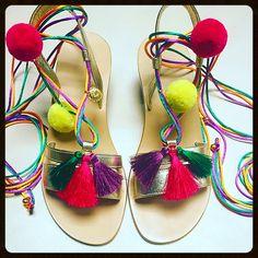 Gold fascia sandals. S/S 2017
