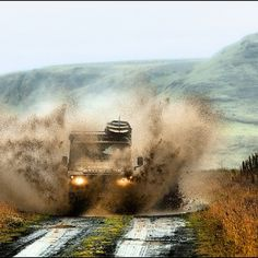 Mudding with land rover defender