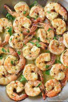 Shrimp Recipes for Dinner - Most popular, most shared from 20K to over 100K x's see http://carbswitch.com/2016/03/25/shrimp-recipes-for-dinner-most-popular-most-shared/ for more #carbswitch  Easy Delicious Garlic Shrimp Recipe