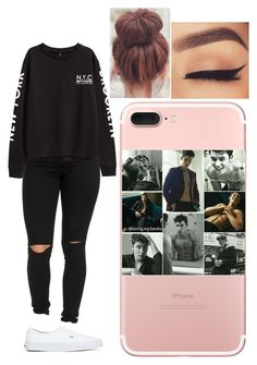 """""""Untitled #904"""" by ilianavaldez on Polyvore featuring H&M and Vans"""