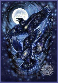 Star Raven Magic Print by WindwolfStudio on Etsy https://www.etsy.com/listing/254142736/star-raven-magic-print
