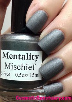 Mentality Nail Polish The Matte Collection Swatches and Review