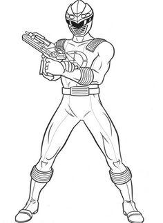 Power Rangers Ninja Storm Show His Gun Coloring Page