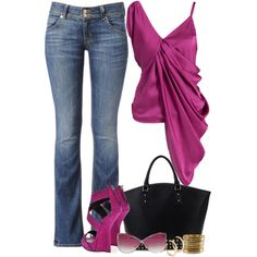"""""""Sexy top with jeans"""" by deewest on Polyvore"""