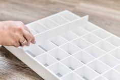 Makeup storage drawer organiser. Compatible with Ikea Alex drawer