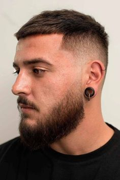 Fade Haircut With Beard, Bald Head With Beard, Buzz Cut With Beard, Short Fade Haircut, Beard Cuts, Beard Haircut, Beard Fade, Buzz Cut For Men, Buzz Cuts
