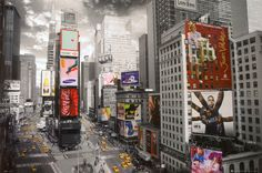NEW YORK - Times square Aerial Póster