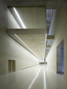 San Telmo interior - board formed concrete.    Nieto Sobejano Arquitectos