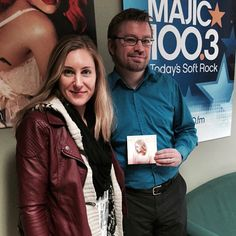 Magic 100 Ottawa talkin about music and the Ottawa weather report  with Ian March  @candacedrover @ianmarch @MAJIC100Ottawa @tandemtracks @roseranger #pop #electro #EP #mystory #canadiantour #singer #songwriter #produce