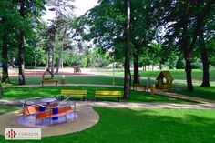 Parcul Copiilor din Timisoara - Loc de joaca Golf Courses, Sidewalk, Gardens, Places, Park, Side Walkway, Outdoor Gardens, Walkway, Walkways
