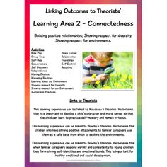 Posters / Signs :: The Complete EYLF Teaching and Learning Binder - New Edition Early Childhood Quotes, Early Childhood Program, Early Childhood Activities, Toddler Learning Activities, Childhood Education, Teaching Kids, Eylf Learning Outcomes, Learning Stories Examples, Early Childhood Australia